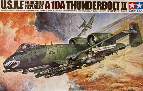1:48 Scale Tamiya U.S.A.F. Fairchild Republic A-10 Thunderbolt II Model Kit #1634