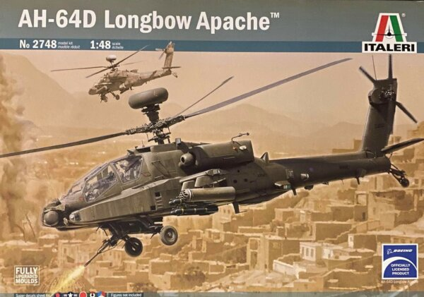 1:48 Scale Italeri AH-64D Longbow Apache Model Kit #1633