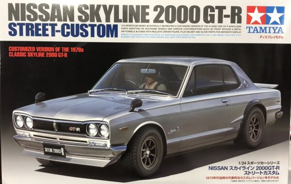 1:24 Scale Tamiya Nissan Skyline 2000 GTR Model Car Kit #1662