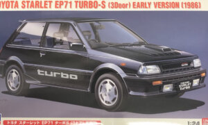 1:24 Scale Hasegawa Toyota Starlet Turbo EP71 Race Car Model Kit #