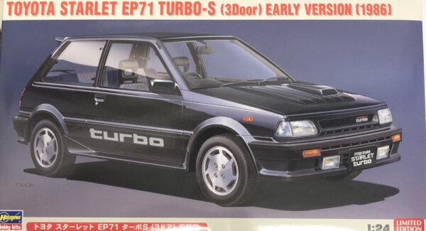 1:24 Scale Hasegawa Toyota Starlet Turbo EP71 Race Car Model Kit #