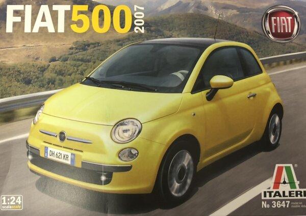1:24 Scale Italeri Fiat 500 2007 Year Model Car Kit #