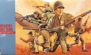 1:24 Scale Hasegawa Military Soldiers - WW2 US - 24 Figures Model Kit #