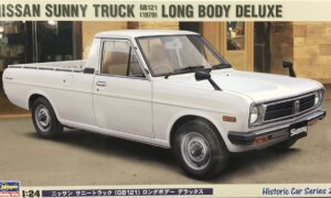 1:24 Scale Hasegawa Nissan Sunny WHITE Pick-Up GB121 Model Kit #