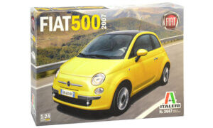 1:24 Scale Italeri Fiat 500 2007 Year Model Car Kit #1665