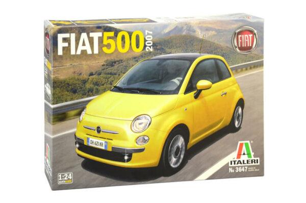 1:24 Scale Italeri Fiat 500 2007 Year Model Car Kit #1665