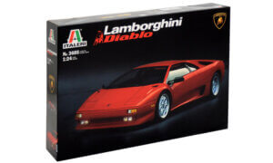 1:24 Scale Italeri Lamborghini Diablo Model Car Kit #