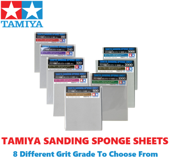 Tamiya Soft Sanding Sponges - 8 Grades To Choose From [ SUPERB PRODUCT ] #