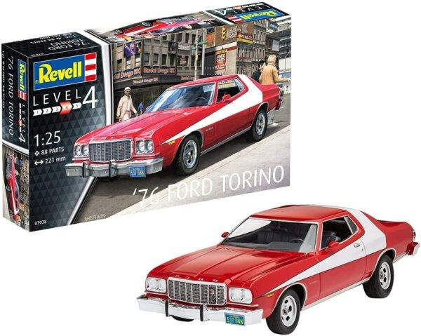 1:25 Scale Revell Ford Turino Starsky & Hutch Model Car Kit #1640
