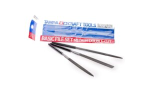 Tamiya Basic File Set Double Cut Quality Pack of 3 #