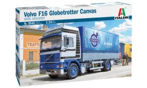 1:24 Scale Italeri Volvo F16 Globetrotter Canvas Truck Model Kit #