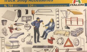 1:24 Scale Italeri Truck Shop Accessories Model Set #