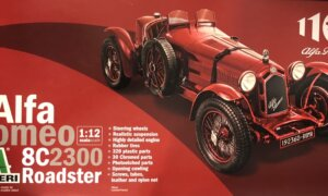 1:12 Scale Alfa Romeo 8C/2300 Roadster (1931-1933) 100th Model Kit #