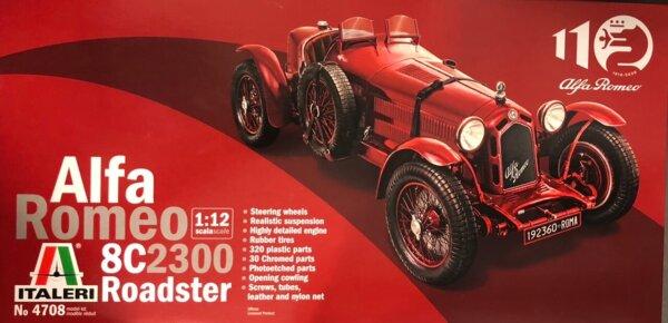 1:12 Scale Alfa Romeo 8C/2300 Roadster (1931-1933) 100th Model Kit #
