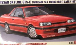 1:24 Scale Hasegawa Nissan Skyline R31 GTS-X TwinCam Model Kit #1670