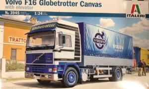 1:24 Scale Italeri Volvo F16 Globetrotter Canvas Truck Model Kit #