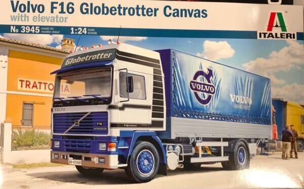1:24 Scale Italeri Volvo F16 Globetrotter Canvas Truck #