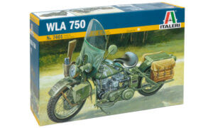 1:9 Scale Italeri Military WLA750 Bike Model Kit #