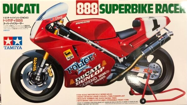 1:12 Scale Tamiya Ducati 888 Superbike Model Kit #