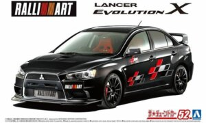 1:24 Scale Aoshima Mitsubishi Ralliart CZ4A Lancer Evolution X '07 Model Kit #