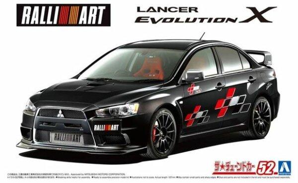 1:24 Scale Aoshima Mitsubishi Ralliart CZ4A Lancer Evolution X '07 Model Kit #