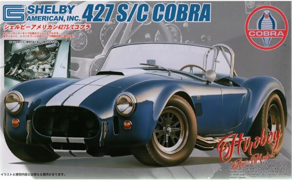 1:24 Scale Shelby Cobra 427SC With Engine Model Kit #