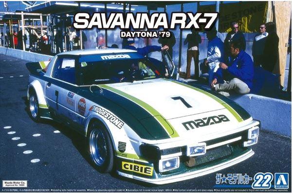 1:24 Scale Aoshima Mazda SA22C RX-7 Daytona '79 Model Kit #