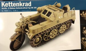 1:9 Scale Italeri Military NSU HK 101 Kettenkrad Motorbike Model Kit #