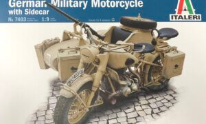 1:9 Scale Italeri BMW R75 Bike & Sidecar #