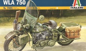 1:9 Scale Italeri Military WLA750 Bike Model Kit #