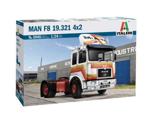 1:24 Scale Italeri Man F8 19.321 2 Axle Tractor Model Kit #