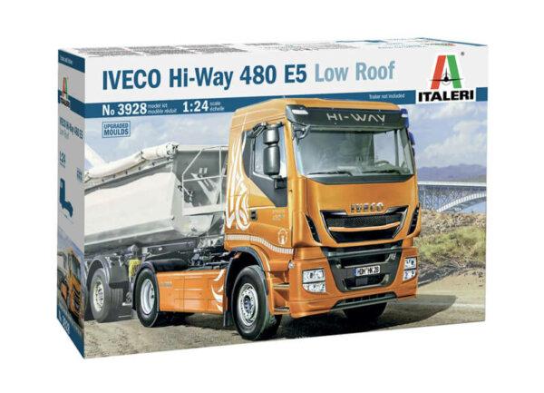 1:24 Scale Italeri Iveco Hi-Way 490 ES (Low Roof) Model Kit #