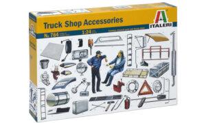 1:24 Scale Italeri Truck Shop Accessories Model Set #