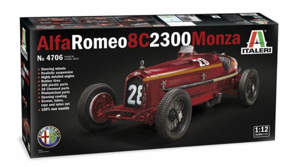 1:12 Italeri Alfa Romeo 8C 2300 Monza Model Kit #
