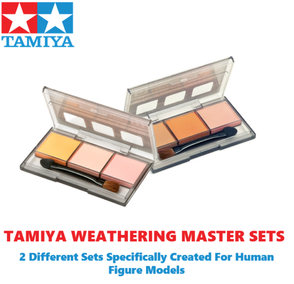Tamiya Weathering Master Paint Set H & G For Creating Extra Depth To Your Model Figures #