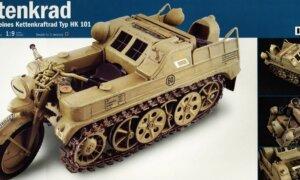 1:9 Scale Italeri Military NSU HK 101 Kettenkrad Motorbike Model Kit #