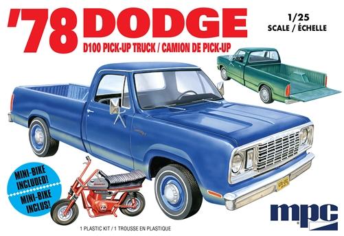 1:25 Scale MPC Models Dodge D100 Custom Pickup Model Kit #1667