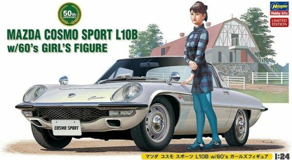 1:24 Scale Hasegawa Mazda Cosmo Sport L10B Model Kit #1671