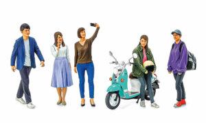 1:24 Scale Tamiya Campus Friends Modern Figures Model Kit#1666