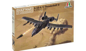 1:72 Scale Italeri A10 A/C Thunderbolt 11 Gulf War Model Kit #1695