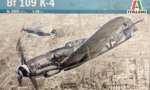 1:48 Scale Italeri BF 109 K-4 Plane model kit #1687