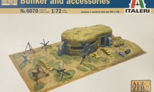 1:72 Scale Italeri WW2 Diorama set- Bunker and Accessories #