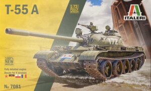 1:72 Scale Italeri T-55 A Tank Model Kit #1688