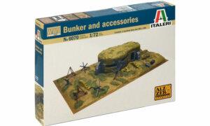 1:72 Scale Italeri WW2 Diorama set- Bunker and Accessories # 1722