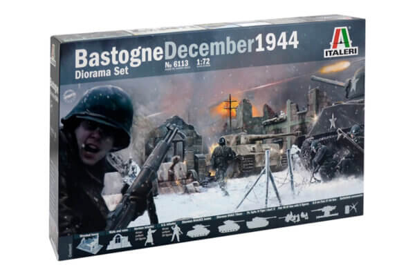 1:72 Scale Italeri WW2 Diorama set- Bastogne December 1944 # 1721