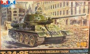 1:48 Scale Tamiya T-34-85 Russian Medium Tank Model Kit #1686