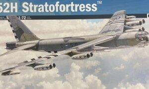 1:72 Scale Italeri B-52H Stratofortress Plane Model Kit #1683