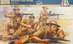 1:72 Scale Italeri WW2 Diorama models - British 8th Army #