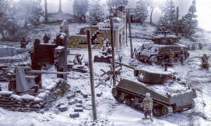 1:72 Scale Italeri WW2 Diorama set- Bastogne December 1944 # 1721