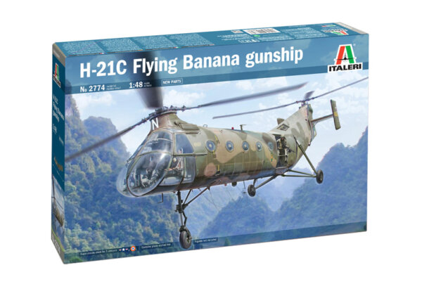 1:48 Scale Italeri H-21C Flying Banana Gunshi Helicopter Model Kit  #1684
